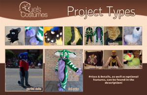 Que's Costumes Project Types and Prices by Que-Sera-Sera