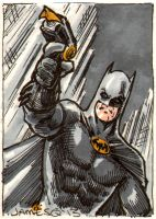 Keaton Batman Sketch Card by jamesq