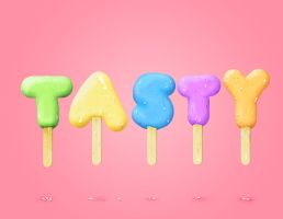 Tasty Ice Cream Letters by Neempop