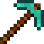 Minecraft Diamond Pickaxe by Angelkitty17