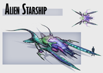 Alien Starship by Nassima-Amir
