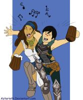 Dragon age  Hawke and Isabela by Aztarieth