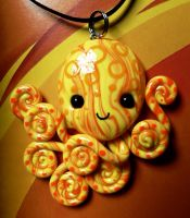 Happy Bright Octopus Necklace by BlackMagdalena