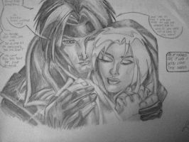 Rogue and Gambit by luciaIM