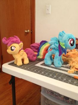 Scootaloo and RD wip by ArtisanAlley