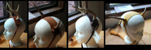 New wearable antlers 6-15-2012 by lupagreenwolf