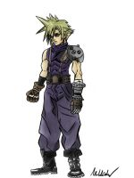 Dissidia Cloud Strife by supereva01