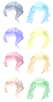 Hair adopts by bunniiadopts