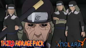 Naruto UNS3 - Third Hokage (Hiruzen) Pack FOR XPS by ASideOfChidori