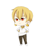 :Commission: Gilgamesh Blinking Chibi by Tangwi
