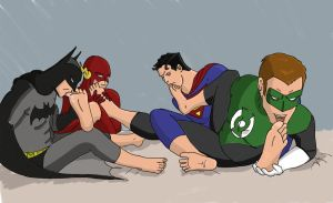 Justice League, Private Moment by Final-Fantaisies