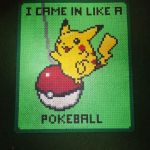 pikachu cyrus - i came in like a pokeball - perler by staubtaenzerin