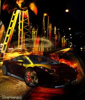 Lambo meltdown Wallpaper by ZeroniX-Designs