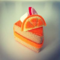 Orange Felt Cake by bibiluv