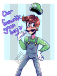 Luigi's Birthday Contribution (posted late) by Ironic-Melon