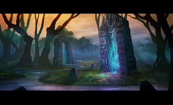 Stone Portals by AlynSpiller