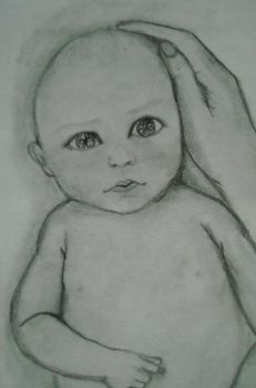 Drawing of a baby by Misery16226