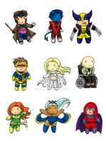 X-Men Chibi Set by Tamao