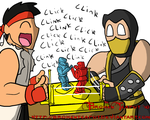 Ryu vs. Scorpion by BrokenTeapot