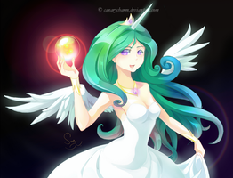 Princess Celestia by canarycharm