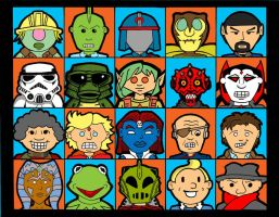 20 faces by crpechonick