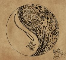 Yin yang doodle by gisellemendes