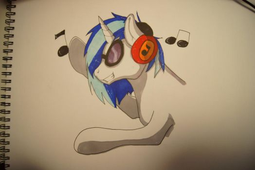 Vinyl Scratch DJ PON-3 [SPEEDPAINTING] by jigsaw91
