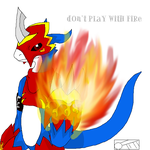 Don't Play With Fire Kiriban by Tora-Kat