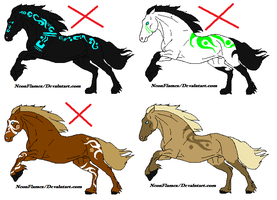 Horse adopts CLOSED by NeonFlamez