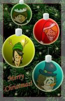 Merry Monkee Christmas by estranged-illusions