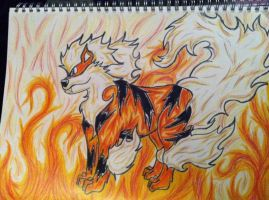 Flames Of Arcanine by WildBlackWolf23
