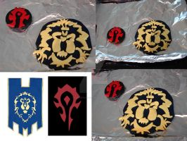 Horde and Alliance Clay Symbols by LunarSolaris