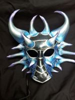 Ice Dragon Leather Mask Version 1 by Jedi-With-Wings
