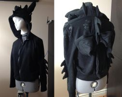 How to Train your Dragon - Toothless custom hoodie by Kitamon
