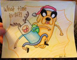Adventure Time Christmas card by Wolfgrl13