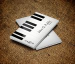 Piano Musician Business Card by es32