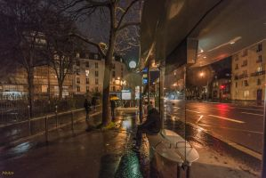 Night on Raspail boulevard by Rikitza