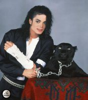 michael with black Panther by countrygirl16mj