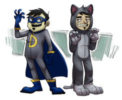 Danman and Catman by Ihlosih