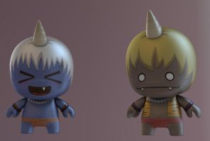 3D Toy Onis by IgorSan