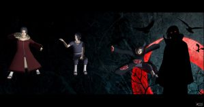 A light in the Darkness - Itachi poses by Mister-Valentine