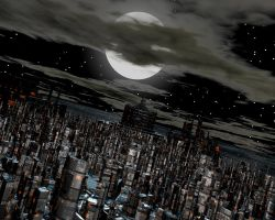 Another City-Scape-Night time by GuitarJedi