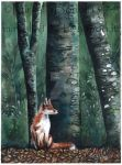 the fox in the wood by ThessaGreenleaf