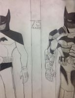 Batman Then and Now by DarkKnightDetective0