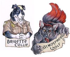 Badges for Blackwolf by lady-cybercat