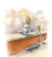 Roxas in Twilight Town by RayCycha