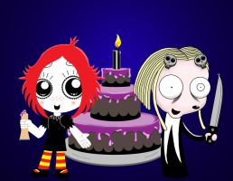 Ruby, cake an Lenore by Espectre
