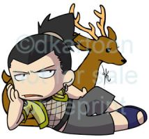 Shikamaru just being cranky by dkartoon