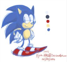 Sonic_simple sketch-colour by Kjrin132