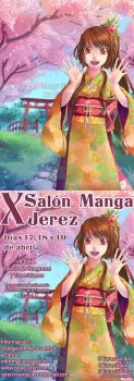 Cartel X Salon Manga Jerez by SaiyaGina